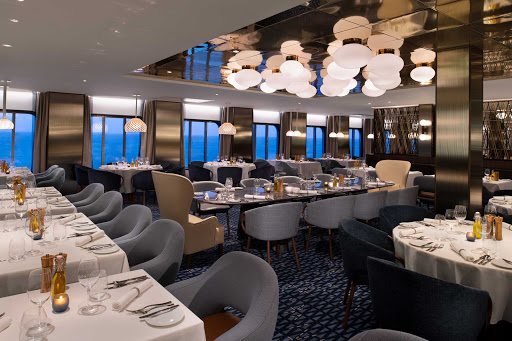 celebrity-edge-Cyprus-restaurant.jpg -  Head to Cyprus restaurant on Celebrity Edge for Greek specialties. One of the main restaurants on board, it's open for dinner only.