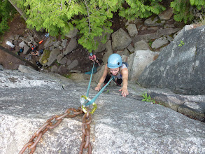 Photo: Squatters bluffs in Nelson offers various steep quality granite climbs