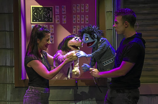 Multitalented: Kate Monster and Princeton give performances of their lives in this ground-breaking puppet show whose actors help bring on the magic. Picture: SUPPLIED