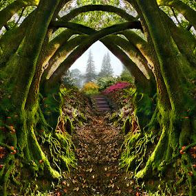 Entrance to the Secret Garden by Gary Pope - Digital Art Places ( fantasy, photoshop art, digital art, composite )