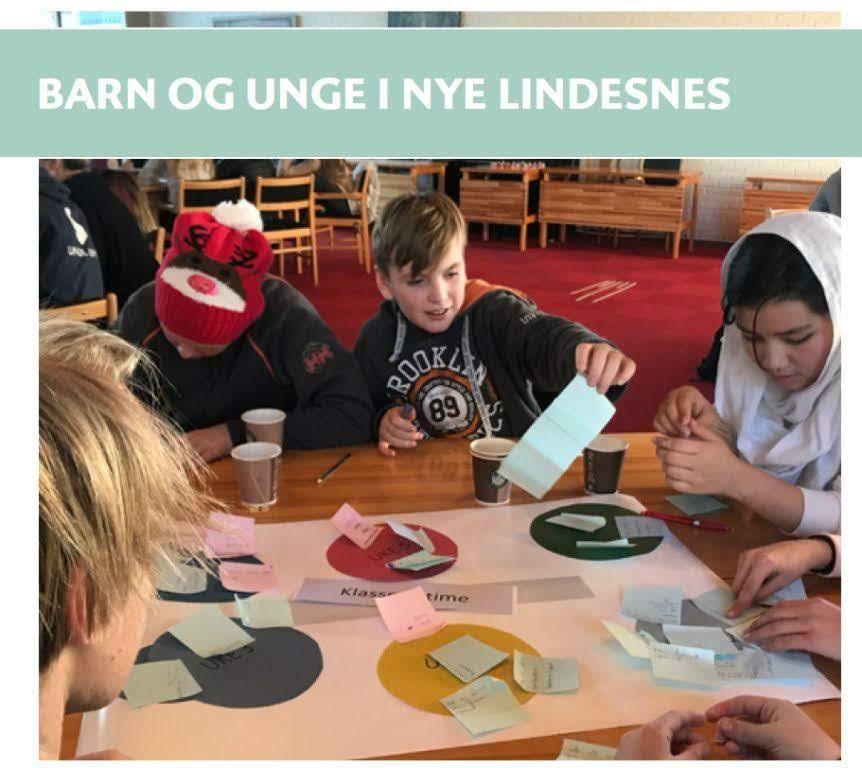 rapportforside: Barn og unge i nye Lindesnes