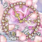 Diamantes Amor Reloj Fondos Pantalla Animados icon