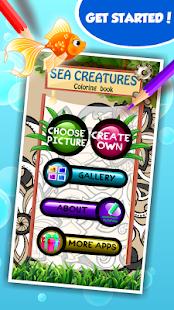 Mořské bytosti omalovánky - náhled