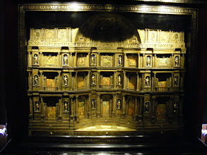 Photo: One of the elaborately decorated chests in the King's Cabinet room.