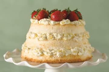 Pineapple Cream Angel Food Cake