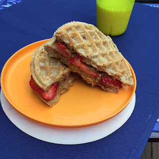 Sunflower Seed Butter and Strawberry Wafflewich.