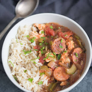 Slow Cooker Cajun Chicken and Sausage.