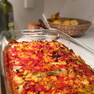 """Vegan Spinach and Leek """"Cannelloni"""" (dairy, grain & gluten free)."""