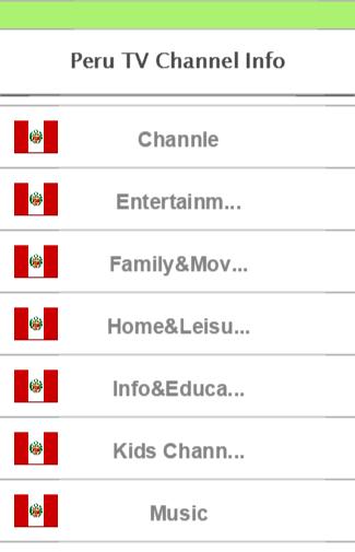 Peru TV Channel Info
