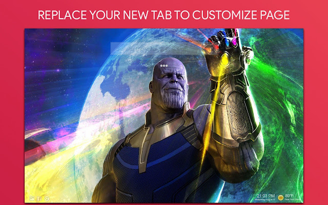 Thanos Marvel Wallpaper HD Custom New Tab