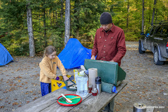 Photo: Making dinner at Half Moon Pond State Park by Bob Ricketson