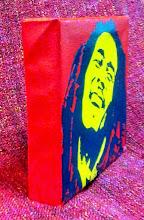 """Foto: """"Bob Marley""""  20x20cm  Soggetto realizzato con stencil fatto a mano e colori acrilici spray su tela.  Subject made with handmade stencil with spray acrylic colours on canvas.  NON DISPONIBILE"""