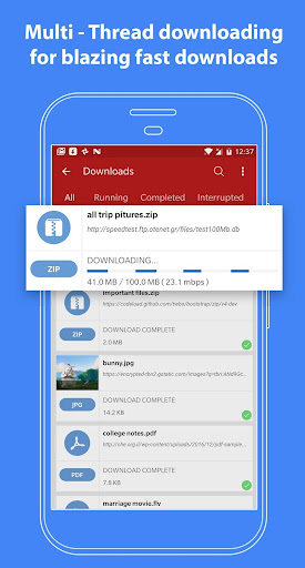Fast Download Manager and Browser 3.0 screenshots 8