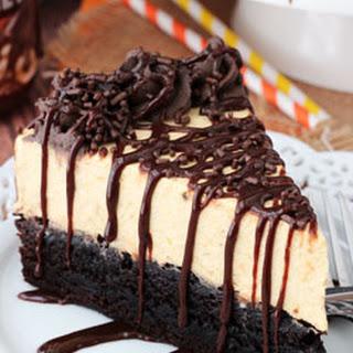 Pumpkin Chocolate Brownie Cheesecake