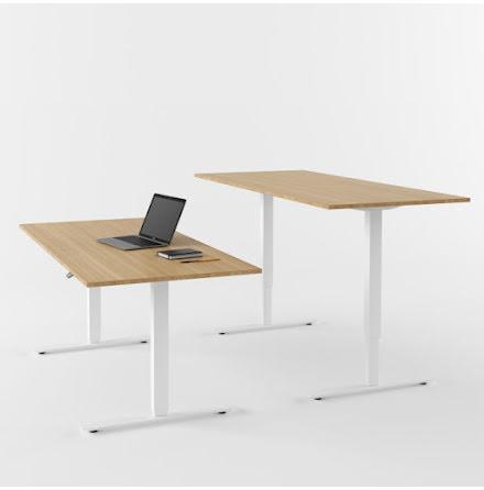 Skrivbord el  vit/ek 1200x800