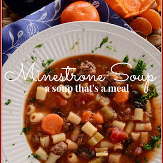 MINESTRONE SOUP.
