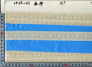 Photo: №6849-138綿50麻50レース:巾27mm