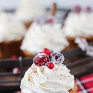 Spiced Eggnog Cupcakes with Bourbon Buttercream