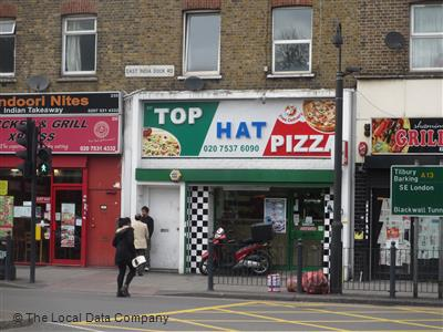 Top Hat Pizza On East India Dock Road Fast Food Delivery
