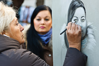 Photo: Hey all! This one's from the weekend just gone, taken in a square near Sacré-Cœur Basilica in Paris. The square was full of street artists offering to draw portraits for tourists. This artist's rendition wasn't too bad, other efforts from nearby however looked pretty nasty. It was a lot of fun to watch the drawings unfold!
