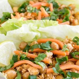 Tofu Chickpeas Lettuce Wraps