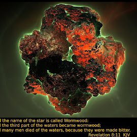 Wormwood by Ricky Jarnagin - Typography Captioned Photos ( mandelbulb, fractal, geometric, abstract, 3d art )