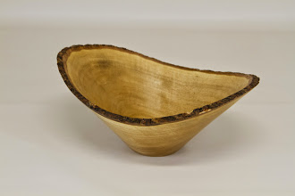 "Photo: Phil Brown 3 1/4"" x 7 3/8"" natural edge bowl [black olive]"