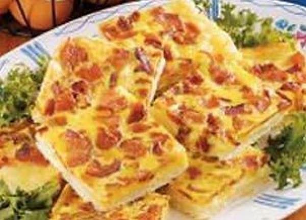Swiss Bacon Squares Recipe