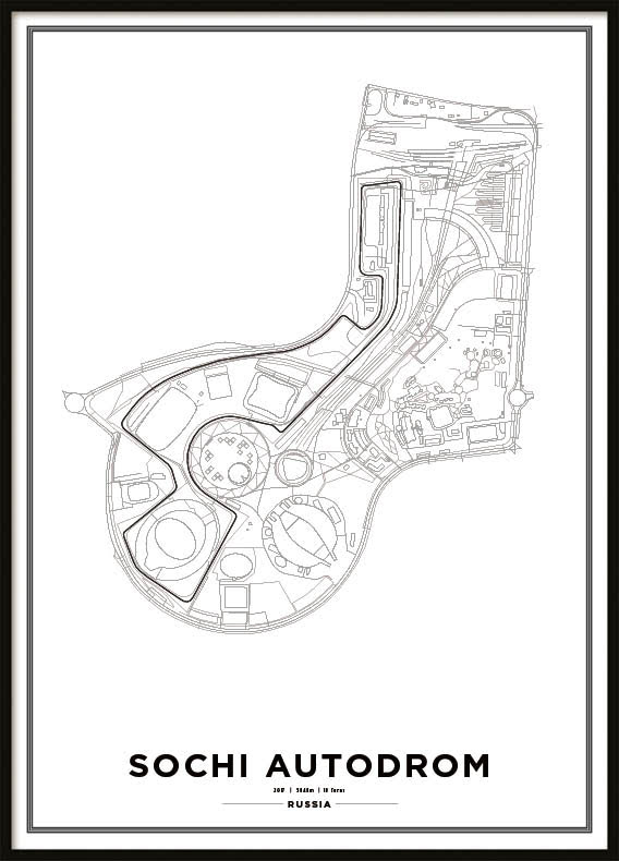 Poster, Sochi Autodrom Formula 1 Print Vit