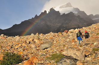 Photo: Walking into the rainbow
