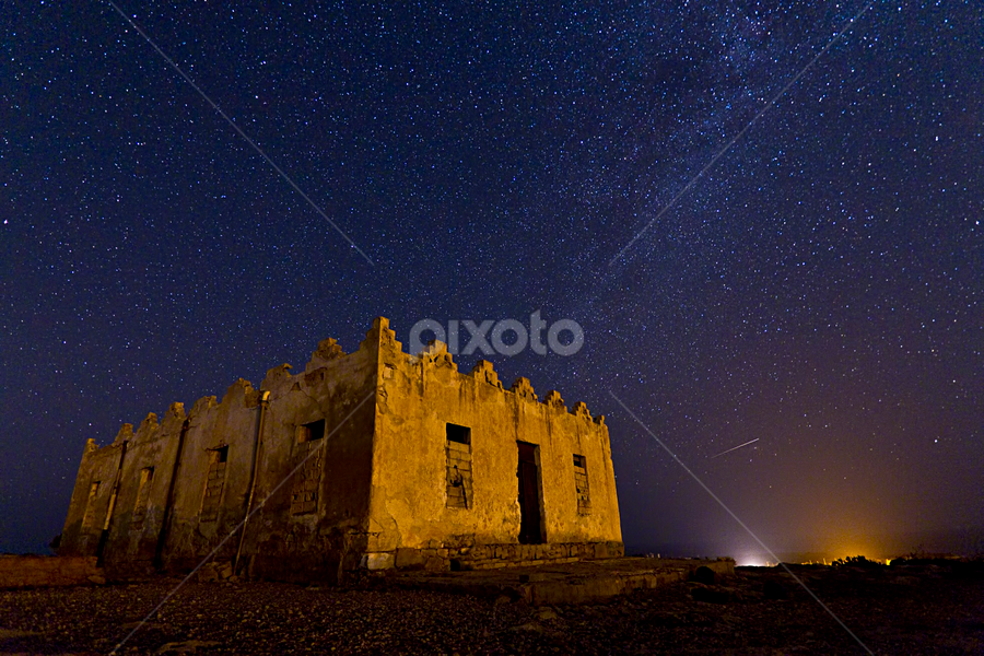 Planet B612 by Muhammad Elalwany - Landscapes Starscapes ( landscapes#nightscapes#sky#old building )