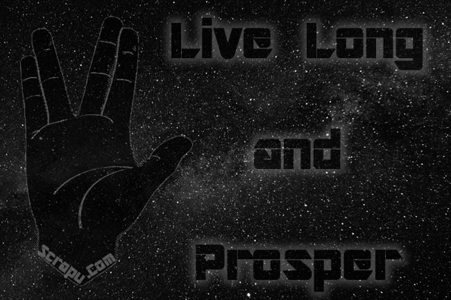 Life wallpaper Live long and prosper.