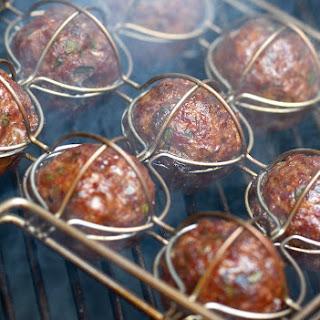 Montreal Meatballs With Maple-Mustard Sauce.