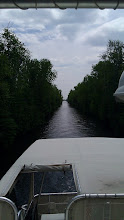 Photo: That is one narrow channel we just went through.
