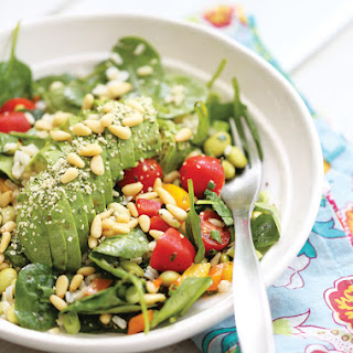 Avocado Spinach Salad as a Meal