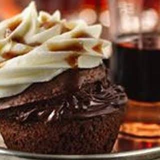 Boozy Bourbon Chocolate Cupcakes.