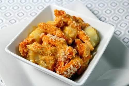 "Buffalo Chicken & Creamy Ranch Potato Casserole ""Ranch dressing and cream of..."