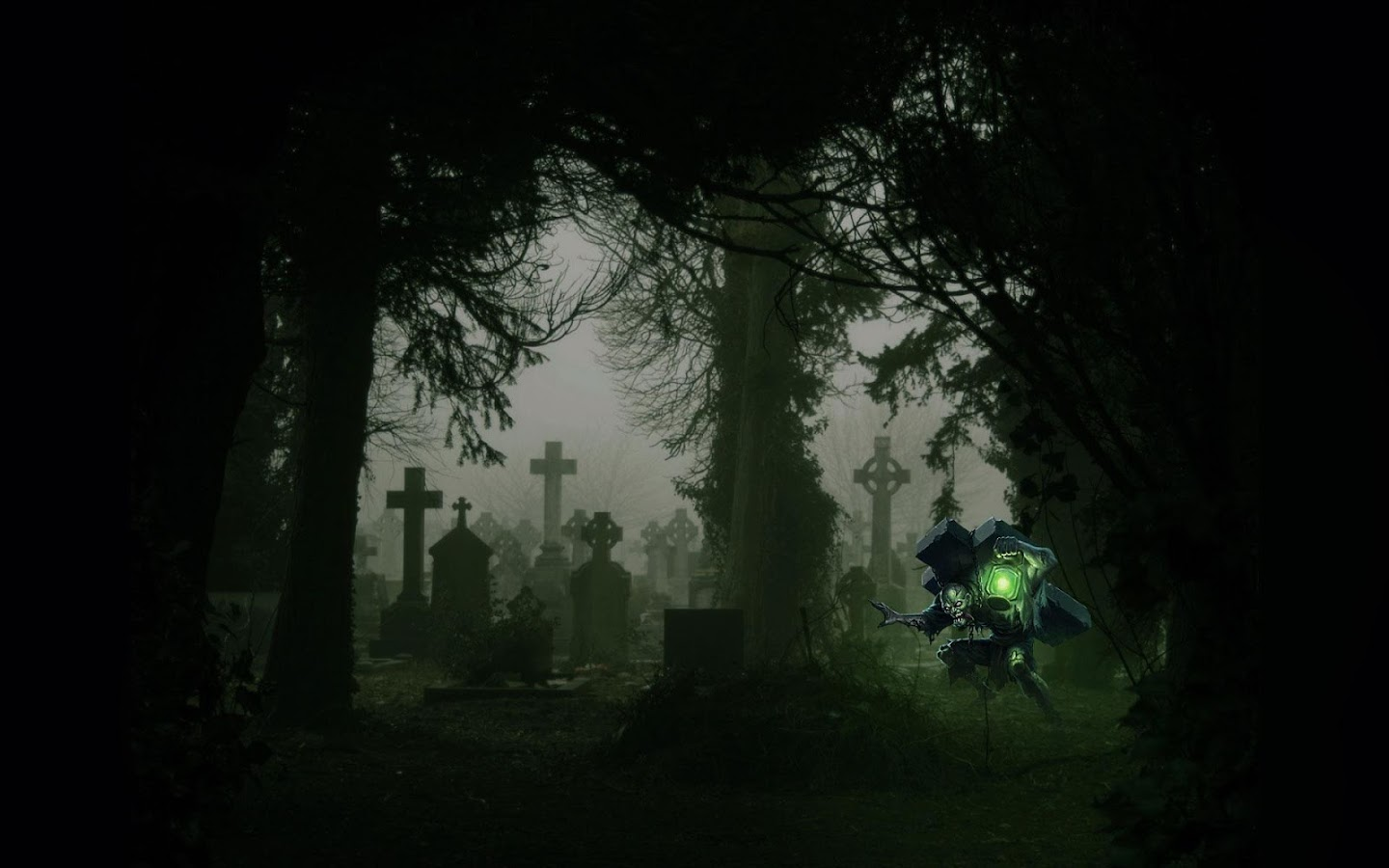 Cemetery Live Wallpaper Screenshot