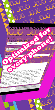 JoJo Stand Generator apk screenshot