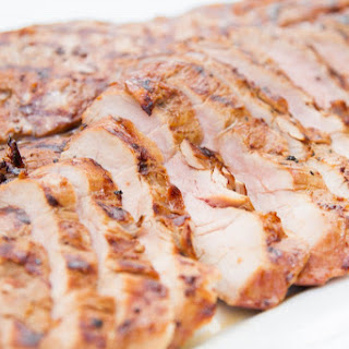 Grilled Pork Tenderloin with Molasses and Mustard.