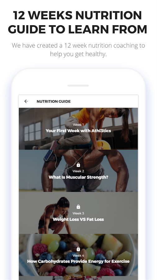 Gym Workout Routine & Meal Plan by Athl3tics- screenshot