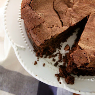 Baked Chocolate Mousse Cake.