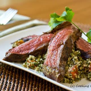 Grilled Steak Tabbouleh Salad.