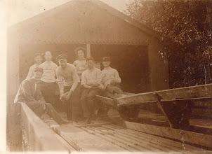 Photo: 1912 Odense Roklub på kegletur i Stige