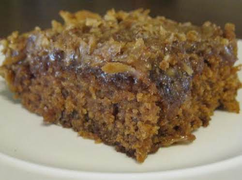 """Oatmeal Cake """"If you're looking for a can't-miss cake...one that has everyone..."""