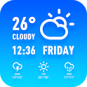 Hourly weather forecast and long-term report icon