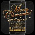 Golden Merry Christmas music keyboard icon