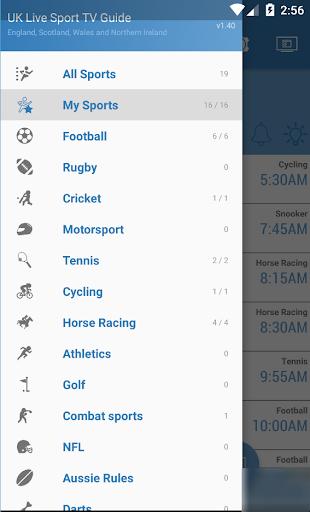 UK Live Sport TV Guide 2.01 screenshots 2