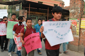 Photo: 4.11.13 ActionAid youth walk against street harassment in Nepal