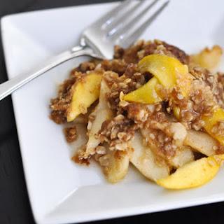 Delicious Apple-Peach Crisp.